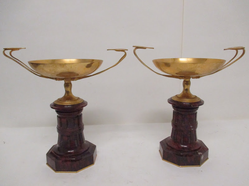 Brass Compote Pair