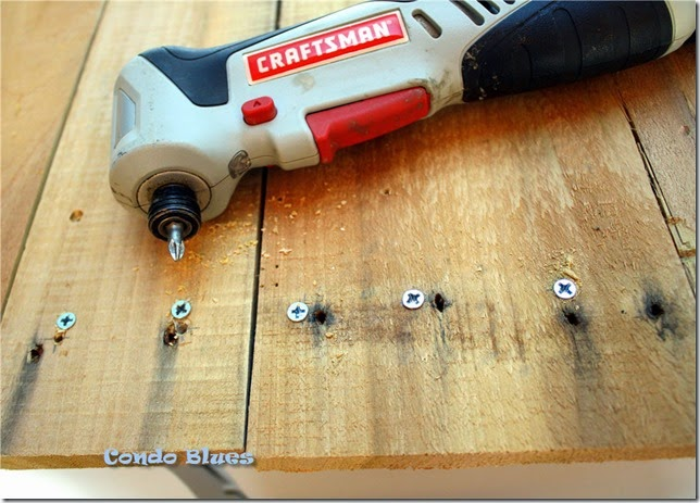 make pallet wood workbench top