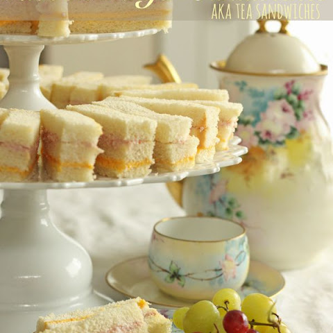 Ribbon Finger Sandwiches (AKA Tea Sandwiches)