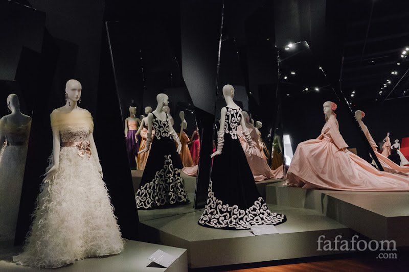 """Ballroom"" Showcase of Oscar de la Renta: The Retrospective exhibition at de Young Museum, San Francisco."