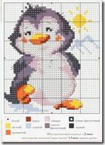 Pingüinos punto d cruz (2)