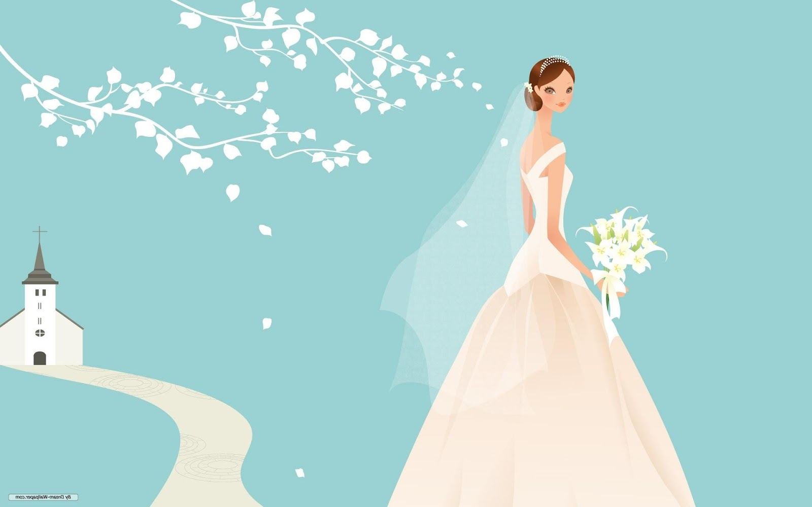 Free Art wallpaper - Wedding