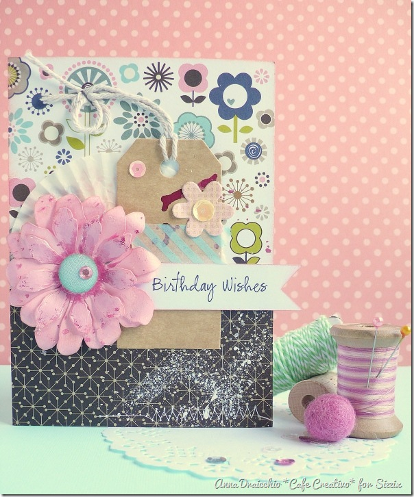 Sizzix Big Shot Plus - flower card - tim holtz dies by cafe creativo (1)