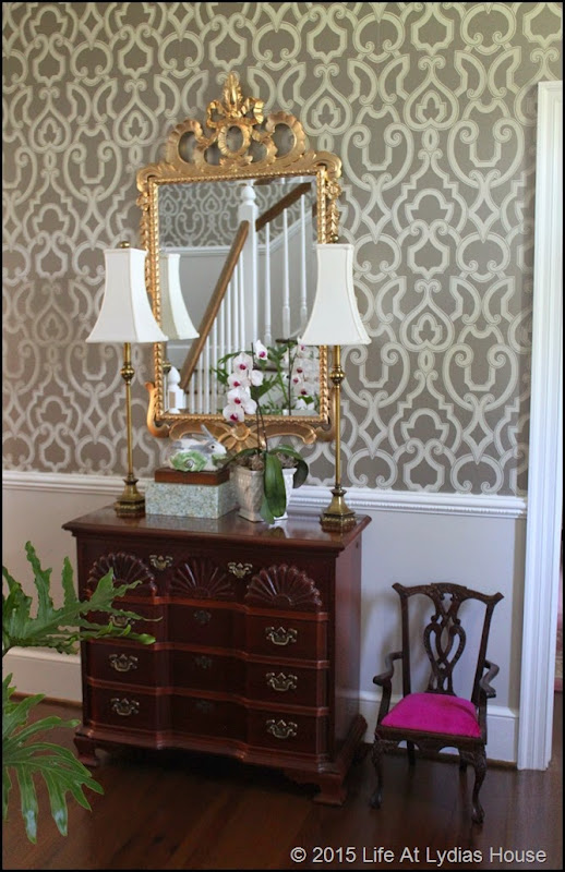 Foyer Wallpaper List : Life at lydia s house foyer update week