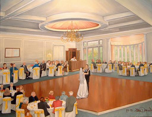 Live Event Wedding Painting.
