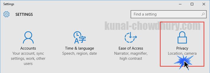 Windows 10 Settings (www.kunal-chowdhury.com)