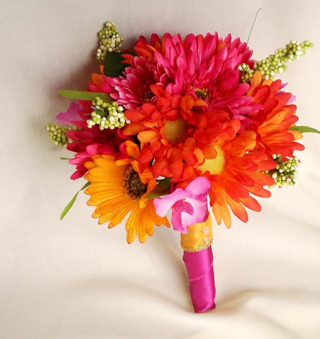 Hot Pink Wedding Bouquets