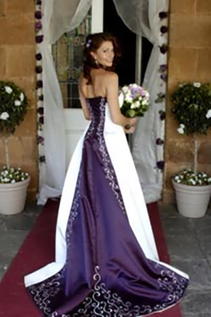 Purple Wedding Gown Now