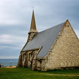 Church by Sébastien Cocquet - Buildings & Architecture Other Exteriors ( church, normandie, france, landscape )