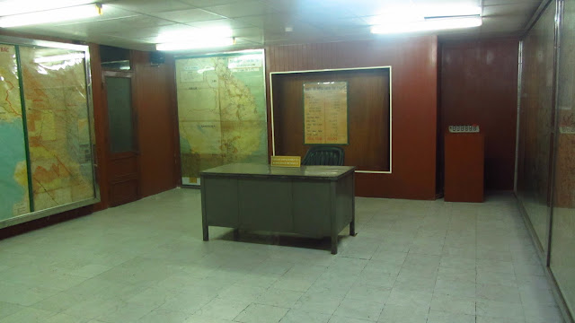 Part of the underground bunker in the Reunification Palace.