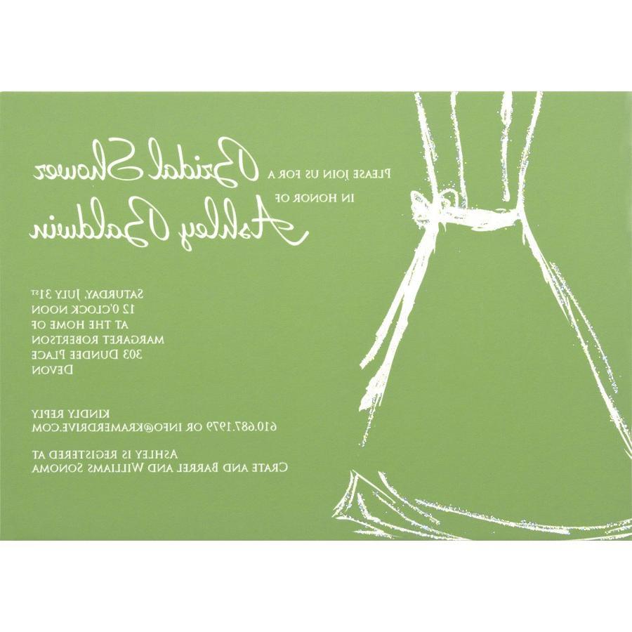 Wedding Dress Sketch Invite in