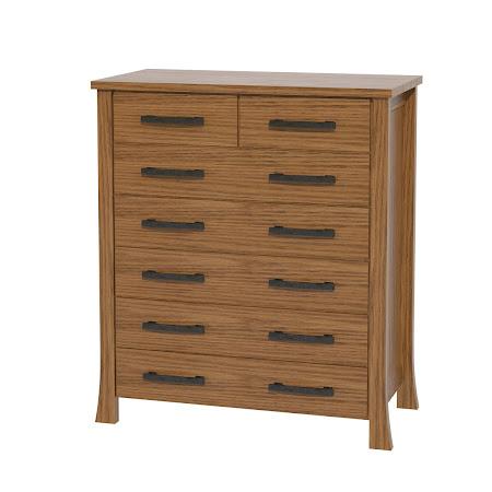 Palermo Vertical Dresser, Medium Oak