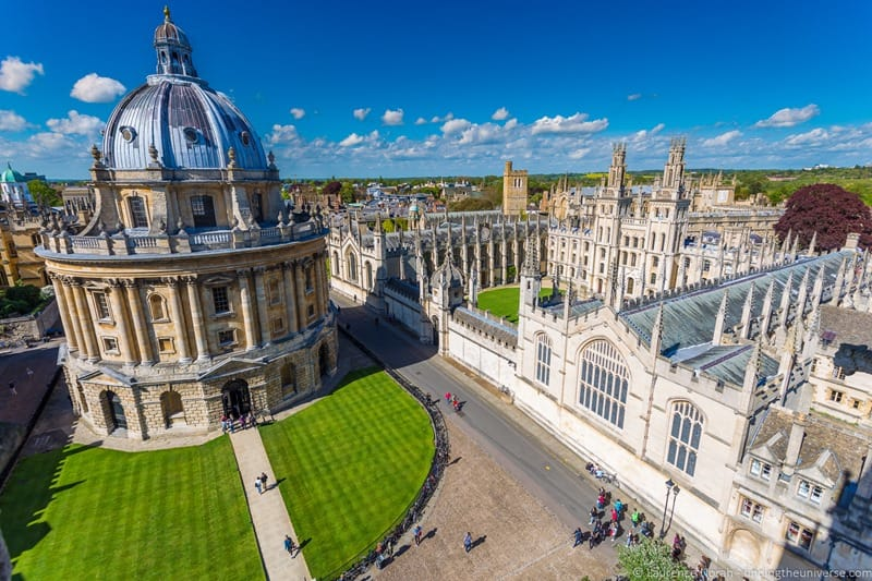 A day trip to Oxford Radcliffe camera from above
