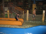 Bryan going down a water slide at Kalahari in OH 02182012a