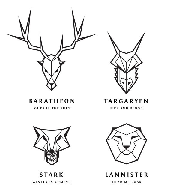 Game of Thrones House Sigil Line Art via Spoon Graphics