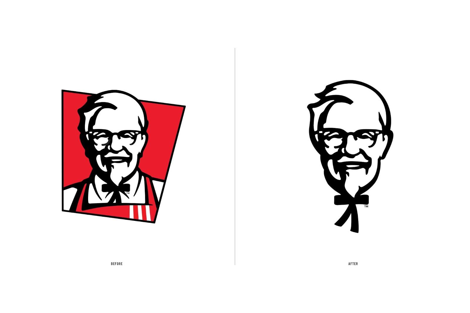 Kfc Rebrand New Versus Old Logo Ehroo