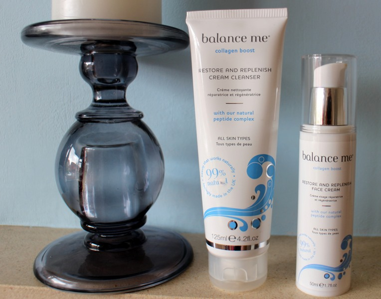 Balance-Me-Collagen-Boost-Restore Replenish-Cream-Cleanser-Face-Cream