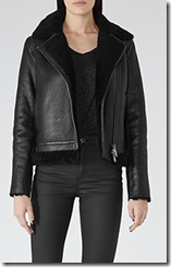 Reiss shearling biker jacket