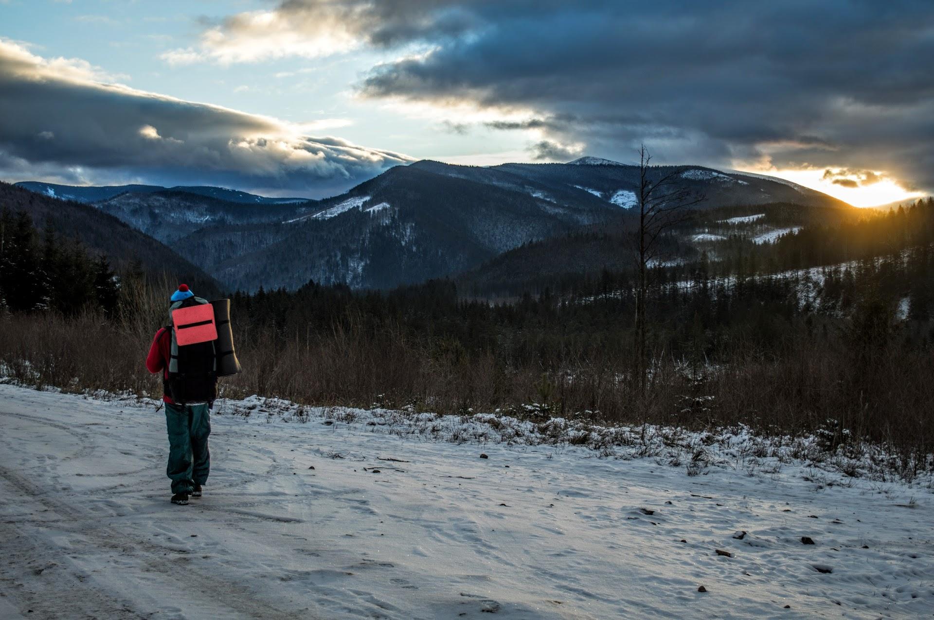 Дорога до Осмолоди, схід Сонця