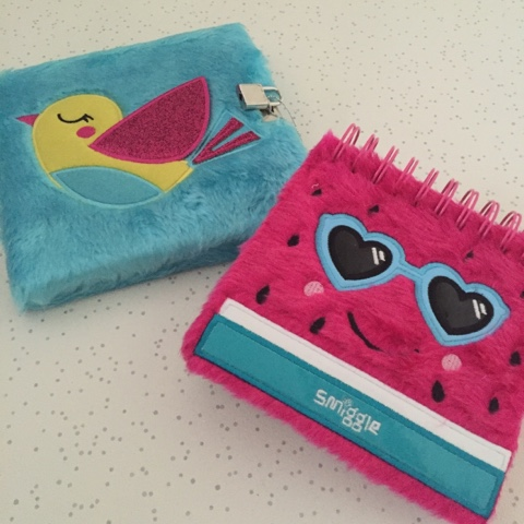 smiggle furry notebooks