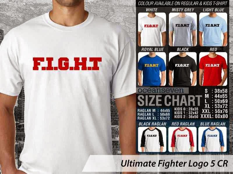 Kaos UFC Ultimate Fighter F.I.G..H.T Logo 5 distro