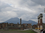 The historical site in Pompejii