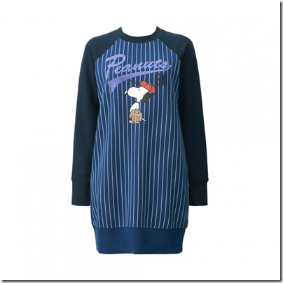 UNIQLO X Peanuts Women Sweat Pullover Dress 06