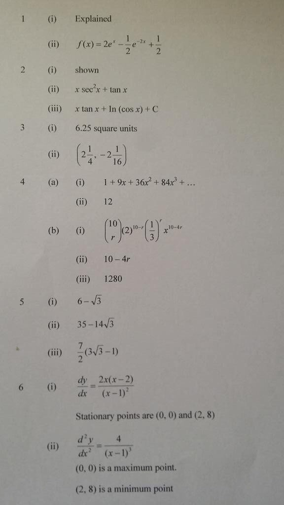 ocr intermediate maths past papers