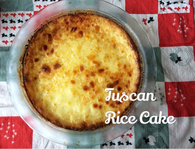 Torta di riso alla Carrarina - Tuscan rice cake with rum and custard