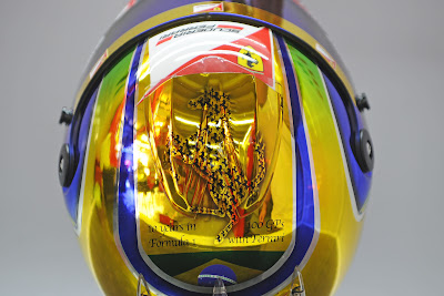 юбилейный шлем Фелипе Массы на Гран-при Бразилии 2011 - вид сверху