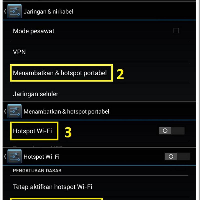 Cara Menjadikan Tablet Android Advan Vandroid Sebagai Hotspot WiFi