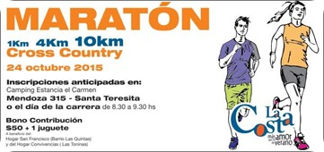 Maratón solidaria en Santa Teresita
