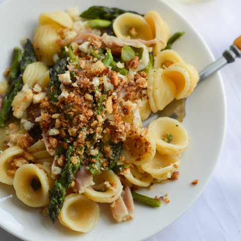 Orecchiette With Asparagus, Prosciutto And Toasted Bread Crumbs