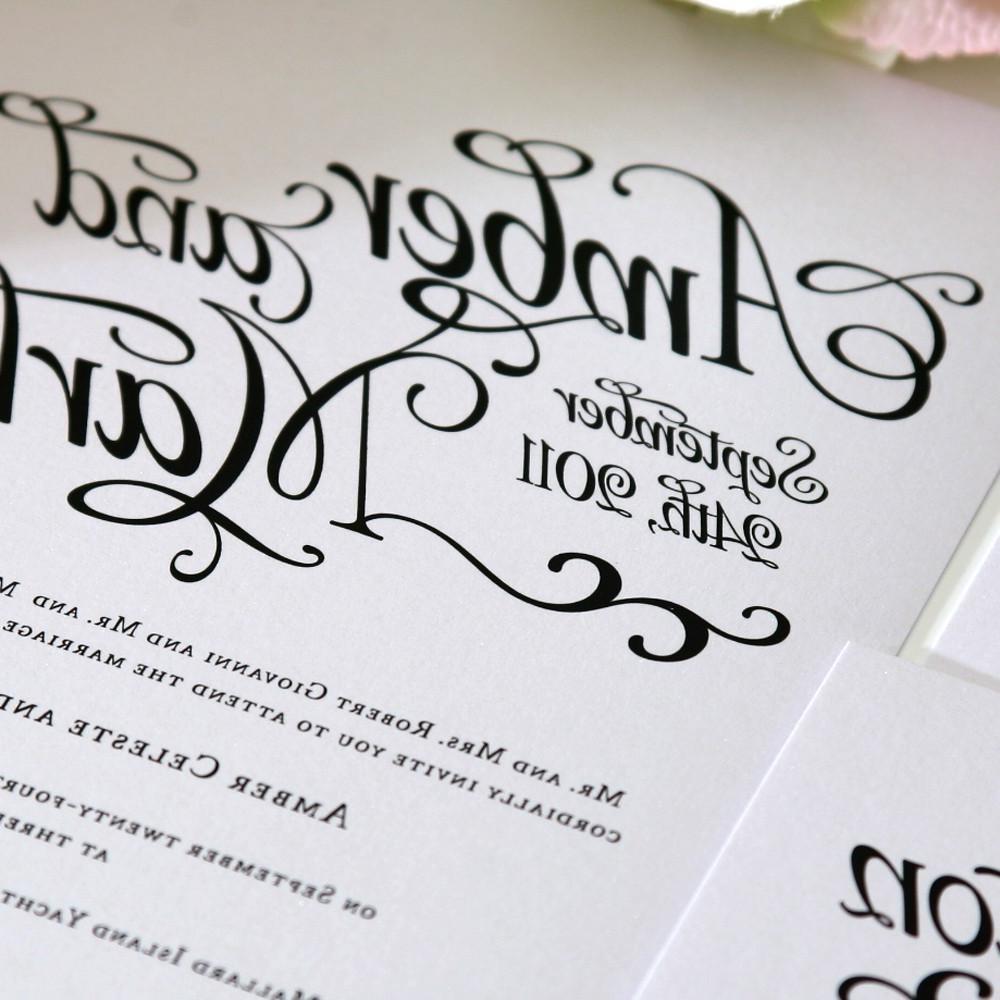 Shabby Chic Script Wedding
