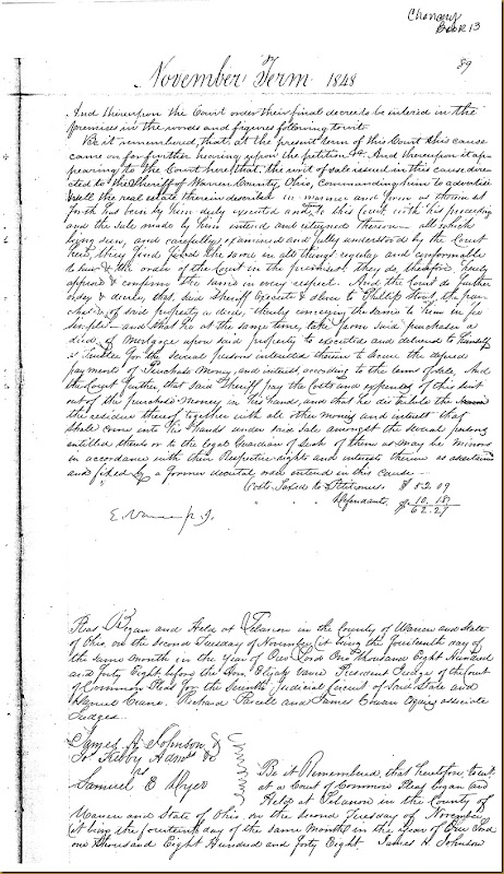 Robert and James Irwin, James Scott and wife, Lydia vs James Lowes 1848 12