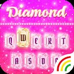 Pink Diamond Keyboard Theme - Emoji&Gif Icon