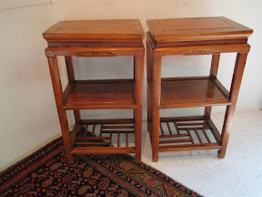 Asian Side Table Pair