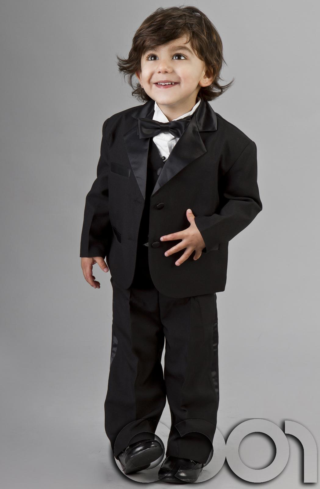 BABY BOYS BLACK WEDDING PAGEBOY CHRISTENING TUXEDO DINNER SUIT AGE 0 - 24