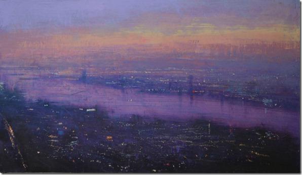 Noche en la ciudad  -Alejandro-Quincoces-ENKAUSTIKOS