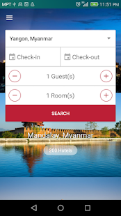 Funny Hotel Booking Template - screenshot
