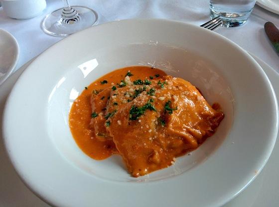Butternut Squash Ravioli in Tomato Cream Sauce