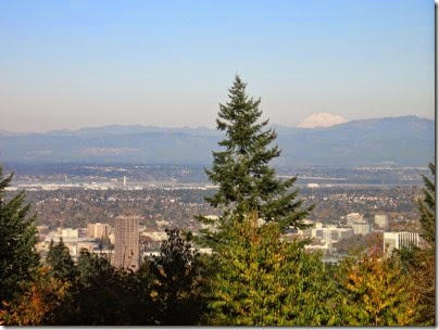 IMG_9266 View of Mount Adams from Council Crest Park in Portland, Oregon on October 23, 2007