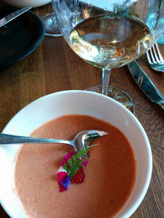 Wild Berries Gazpacho & Pine Infused Farm House Cheese