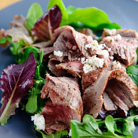Grilled Flank Steak Salad with Goat Cheese