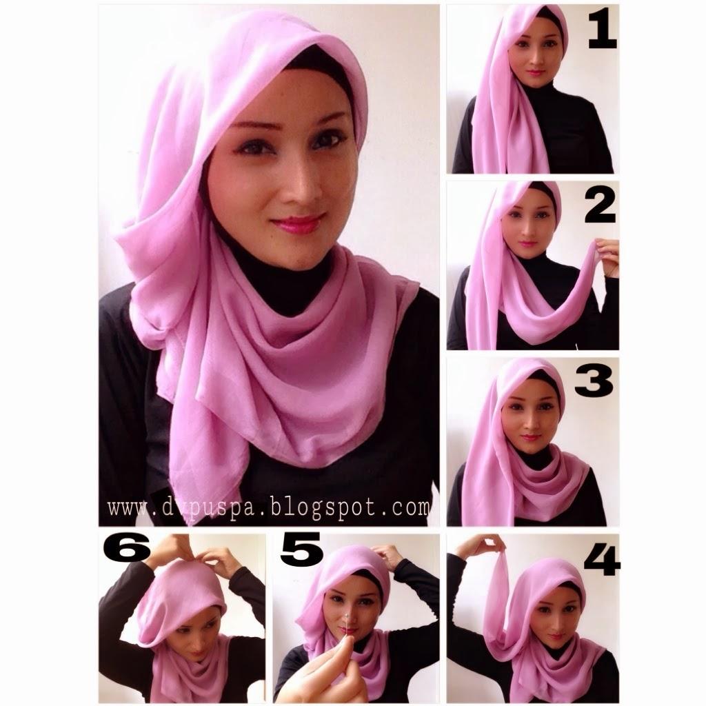 Tutorial Hijab Pesta Simple Segi Empat Modern