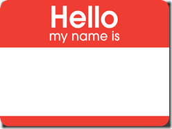 hello nametag