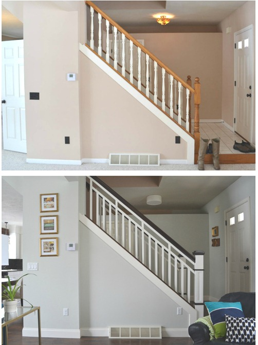 stair railing makeover