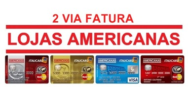 2 Via Cartao Cartao Americanas 2 Via Fatura Itaucard