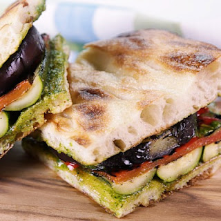 Grilled Vegetable Focaccia Sandwich