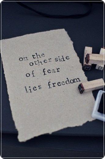 fear freedom